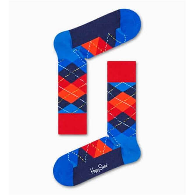 HappySocks Argyle Dark Blue Sock