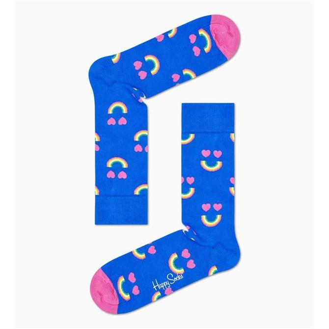 HappySocks Happy Rainbow Hearts Socks