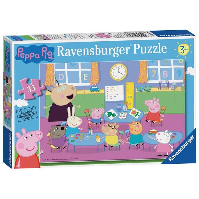 Ravensburger Peppa Pig Classroom Fun Jigsaw Puzzle - 35pc