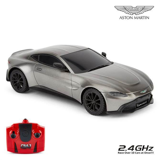 Grey Aston Martin New Vantage 1:24 Scale RC Car