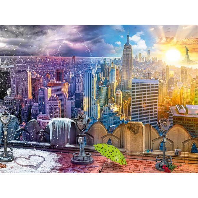 Ravensburger New York Summer and Winter 1500pc Puzzle