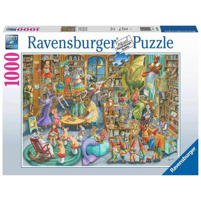 Ravensburger Midnight in the Library Jigsaw Puzzle - 1000pc