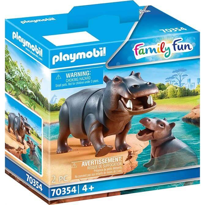 Playmobil Hippo with Calf Play Set
