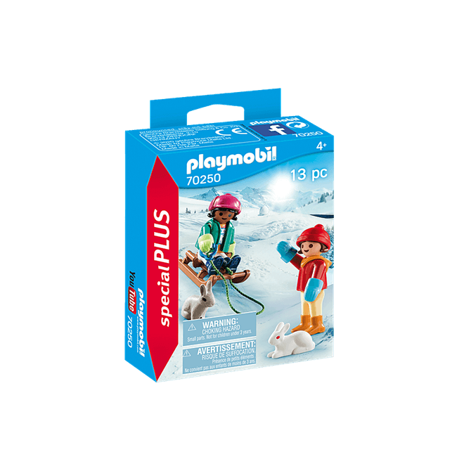 Playmobil Children with Sleigh Playset