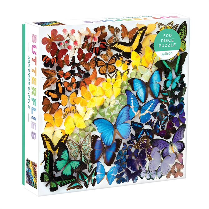 Rainbow Butterflies 500pc Jigsaw Puzzle