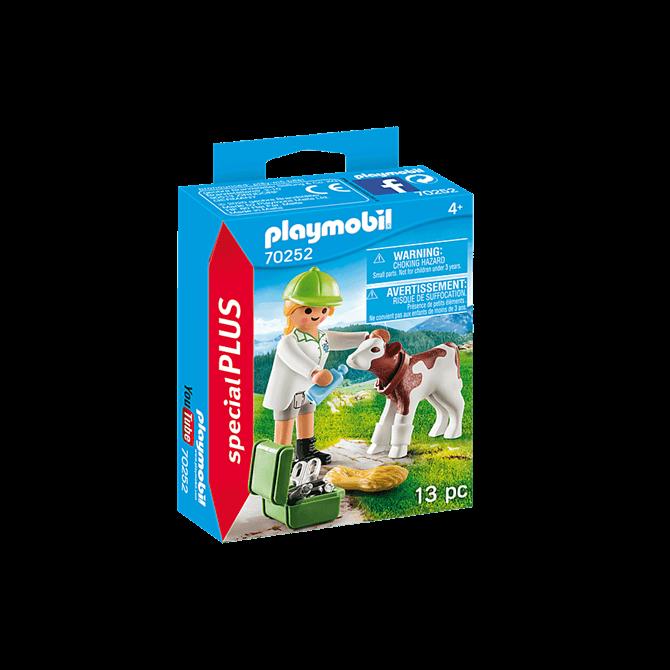 Playmobil Vet with Calf Playset