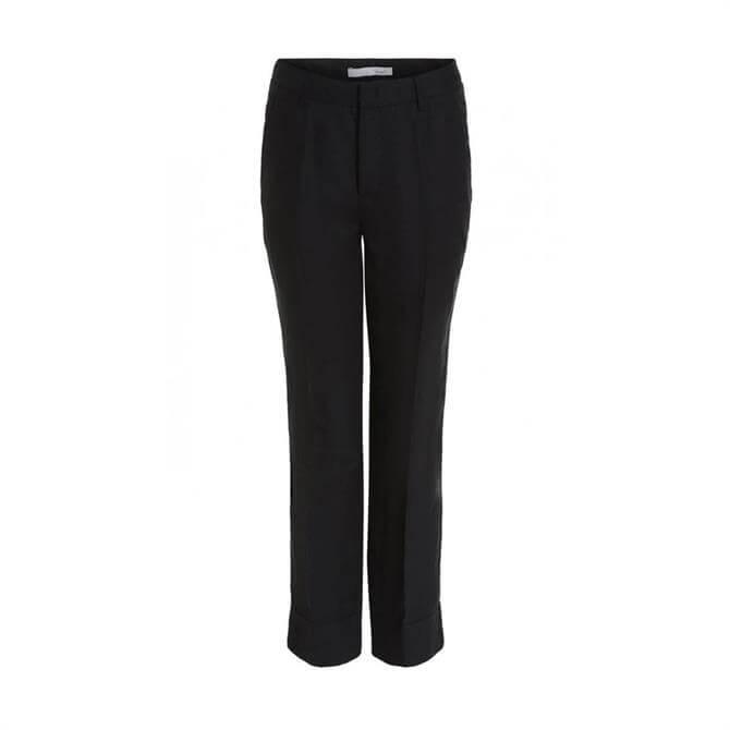 Oui Black Linen Trouser
