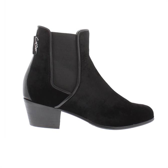 Carl Scarpa Claudia Black Velvet Ankle Boot