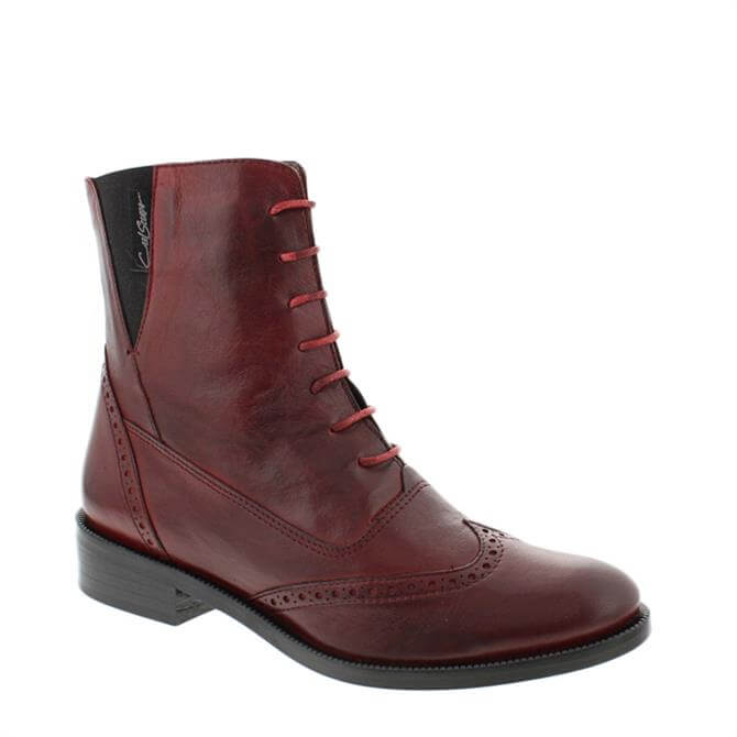 Carl Scarpa Ingrid Red Ankle Boots