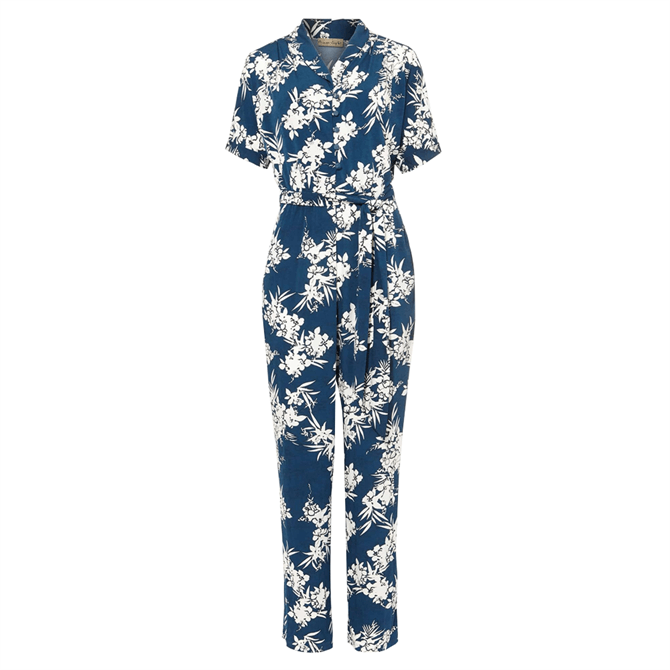 Phase Eight Clancy Palm Jumpsuit Navy