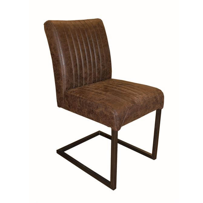 Nyord Industrial Dining Chair in Steel
