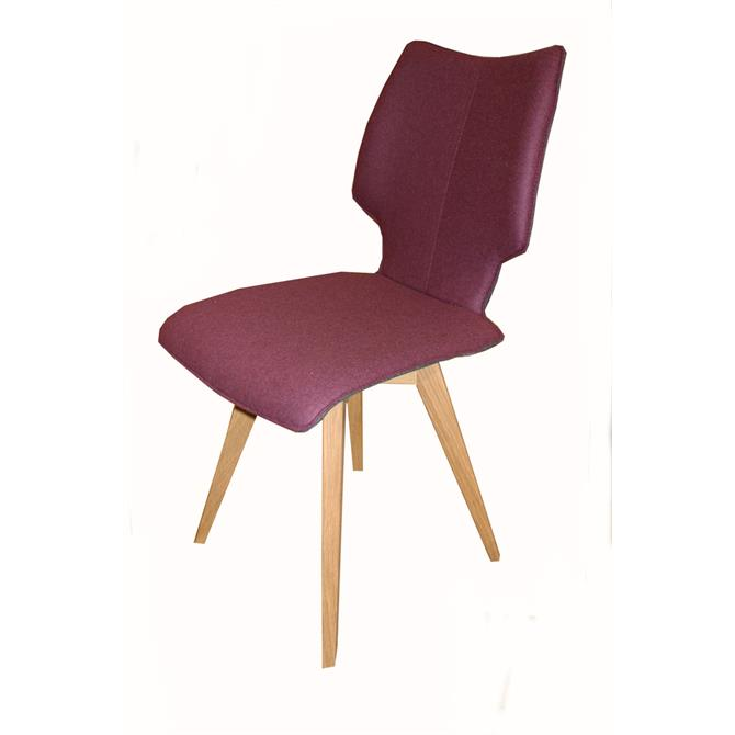 Skalo Chair in Aubergine Fabric