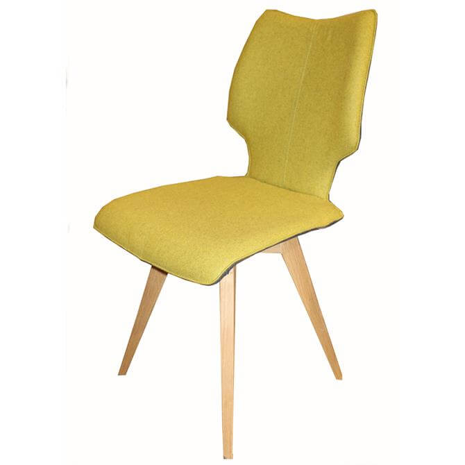 Skalo Chair in Yellow Fabric