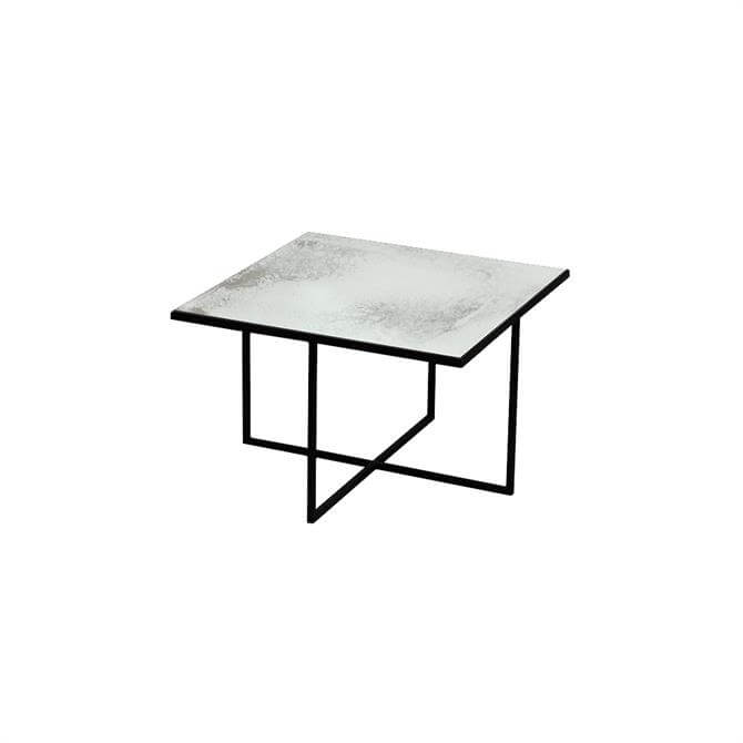 Surface Coffee Table with Metallic Bronze Aged Mirror 50cm