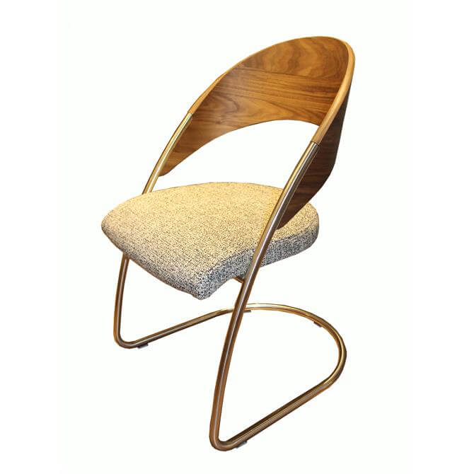 Venjakob Wood Back Chair in Colorado Walnut & Wurzburg Anthracite