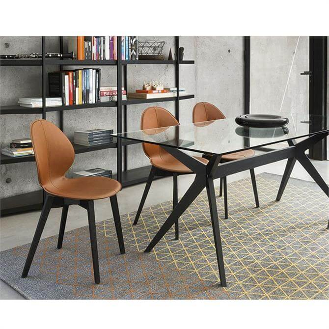 Calligaris Basil W Dining Chair Leather Seat