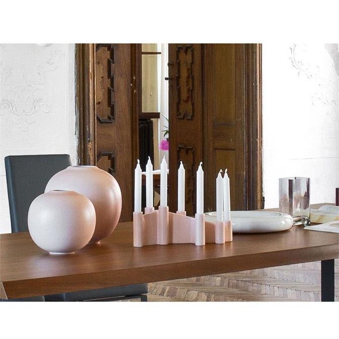 Calligaris Ceramic Candle Holder in matt pink 7176