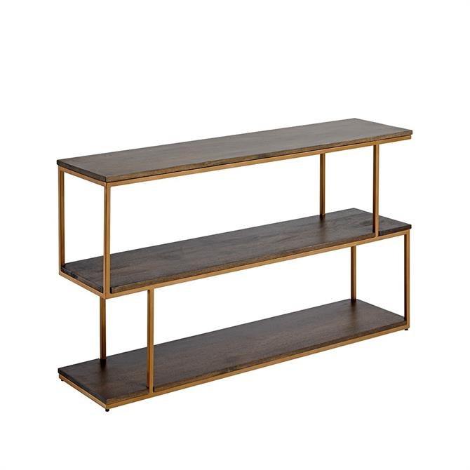 Content by Conran Balance Low Shelving in Wood & Brass Effect