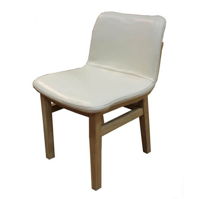 Bleu Nature Cocoon Pebbled Leather Dining Chair