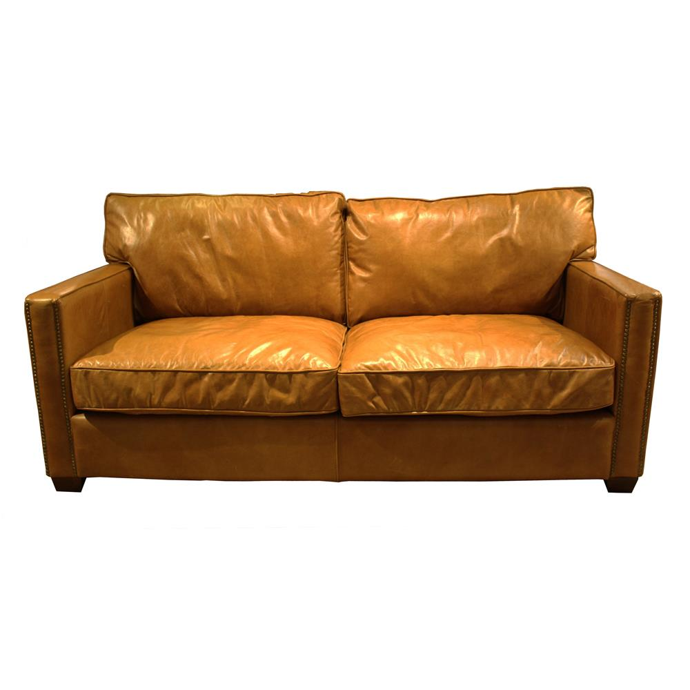 Brunel Two Seater Sofa In Riders Nut Leather Jarrold