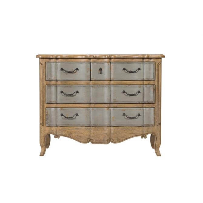 Hogarth Five Drawer Commode in VC Smoke and Mottled Grey