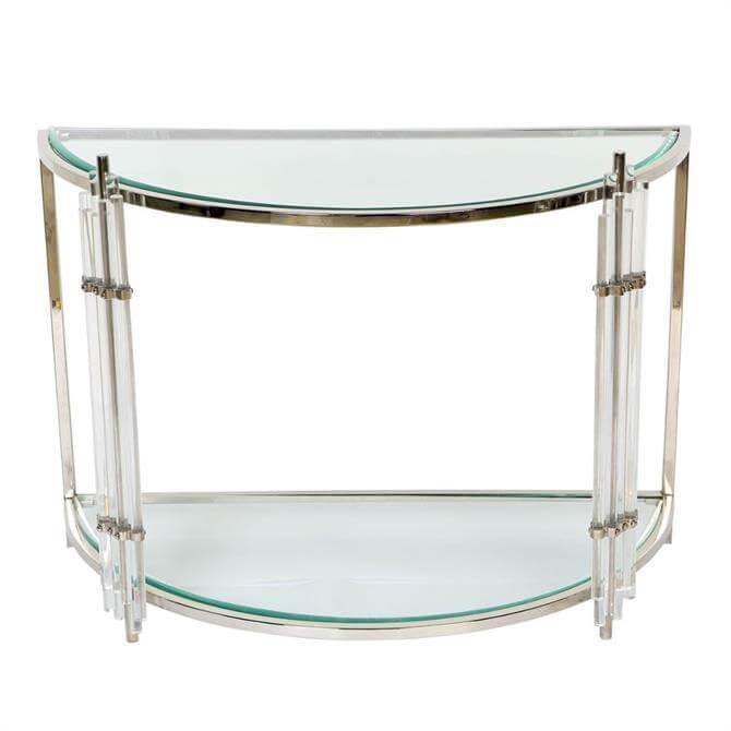 Art Deco Crescent Console Table