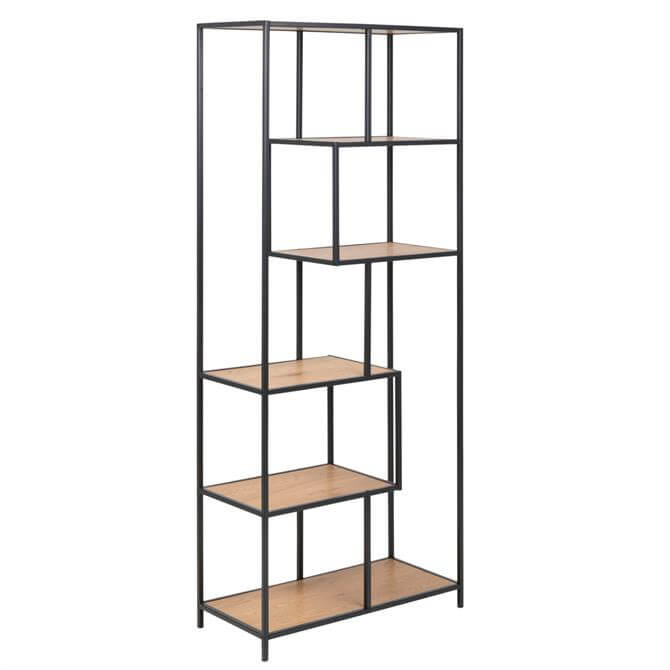 Atlanta Tall 6 Shelf Asymmetric Bookshelf