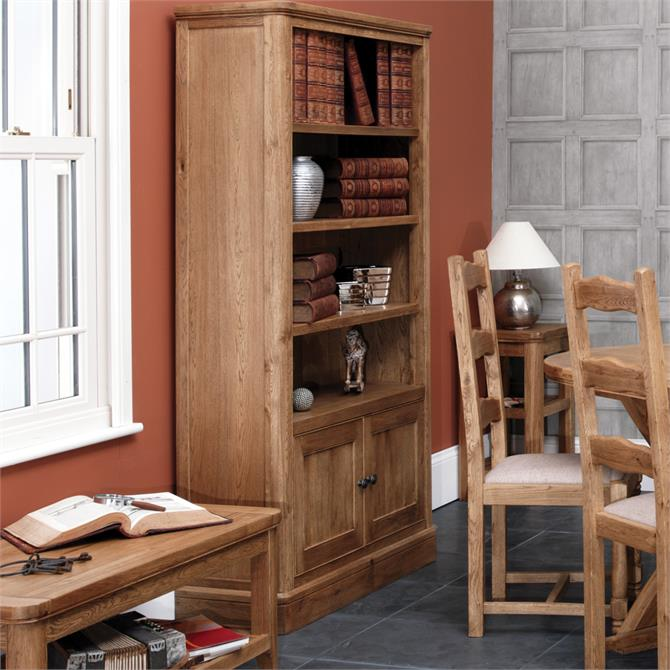 Beaumont Tall Bookcase with Cupboard