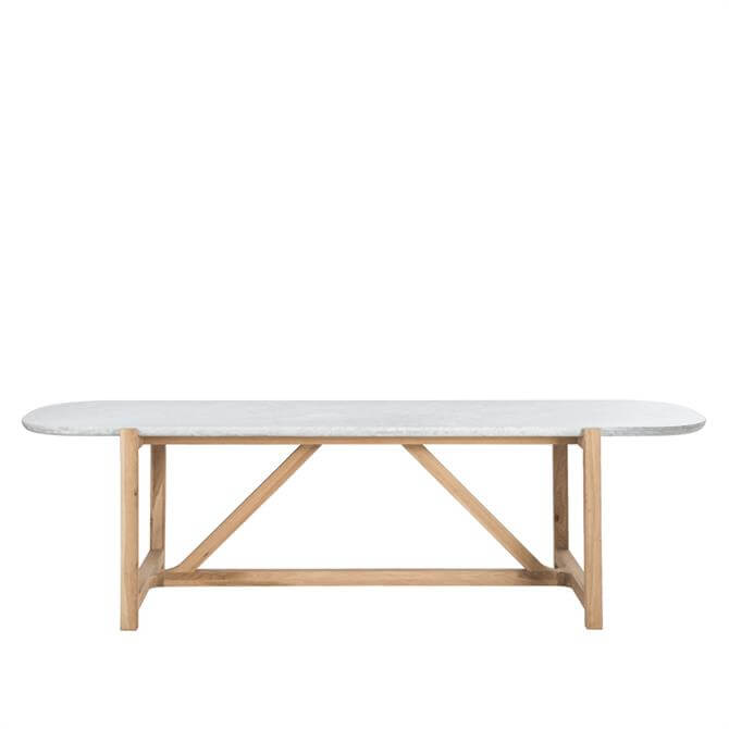 Bleu Nature Stoneleaf Large Marble Top Dining Table