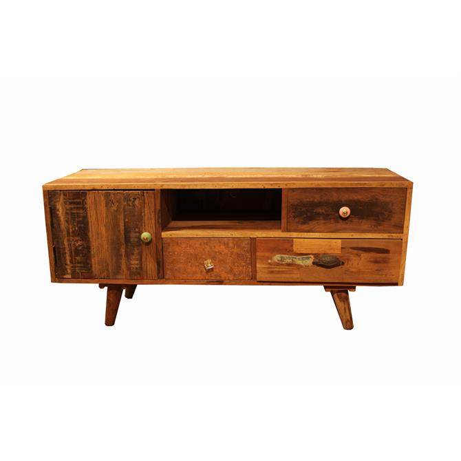 Eastern Inspired Three Drawer TV Unit