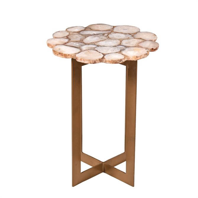 Eastern Inspired Willow Agate Side Table