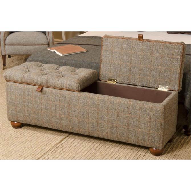 Harris Tweed Eriskay Bedding Box