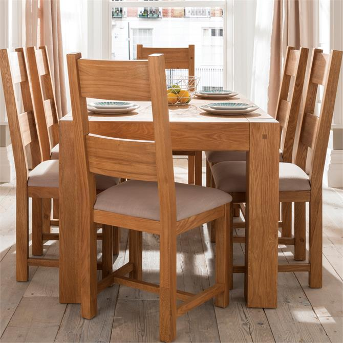 Madison Dining Chair in Fawn Linen and Oiled Oak