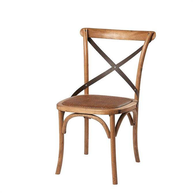 Monarch Dining Chair with Metal Cross Back