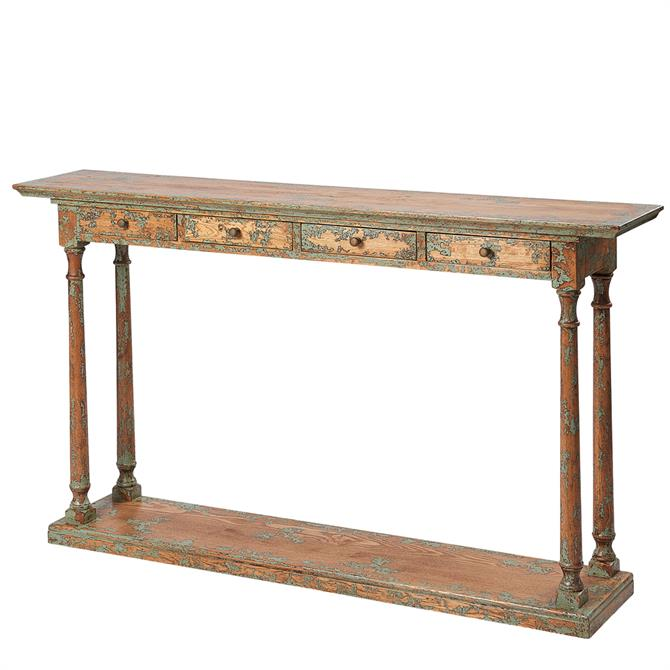 Monarch Narrow Console Table with Four Drawers