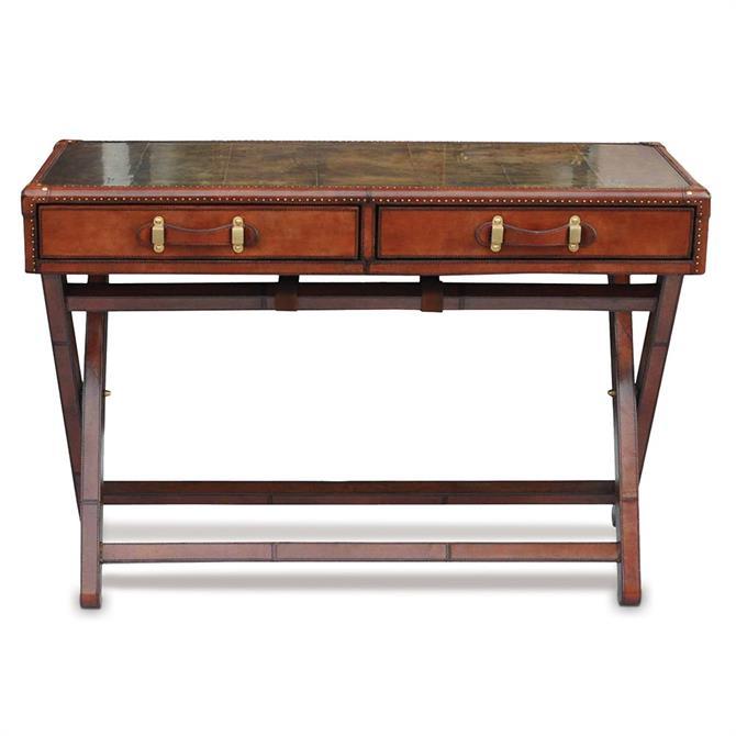 Panama Leather Console Table