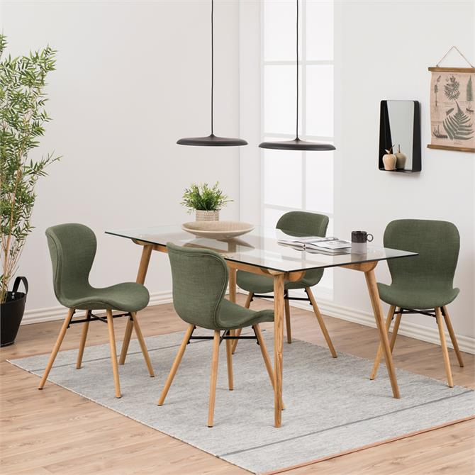 Trident Dining Set (One Table, 4 Chairs)