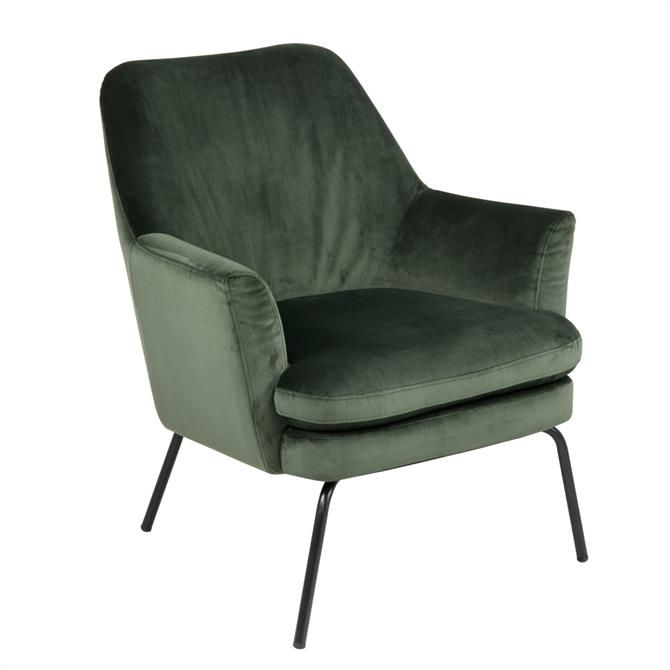 Caterham Occasional Chair in Green Velvet