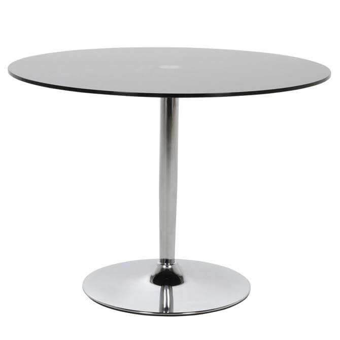 Cosworth Round Glass Top Dining Table