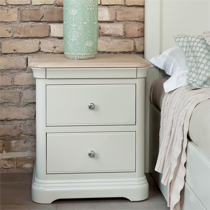 Cromwell Bedside Chest with 2 Drawers