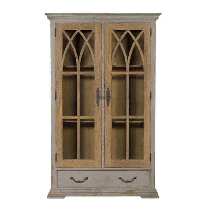Hogarth Display Cabinet in VC Smoke and Mottled Grey