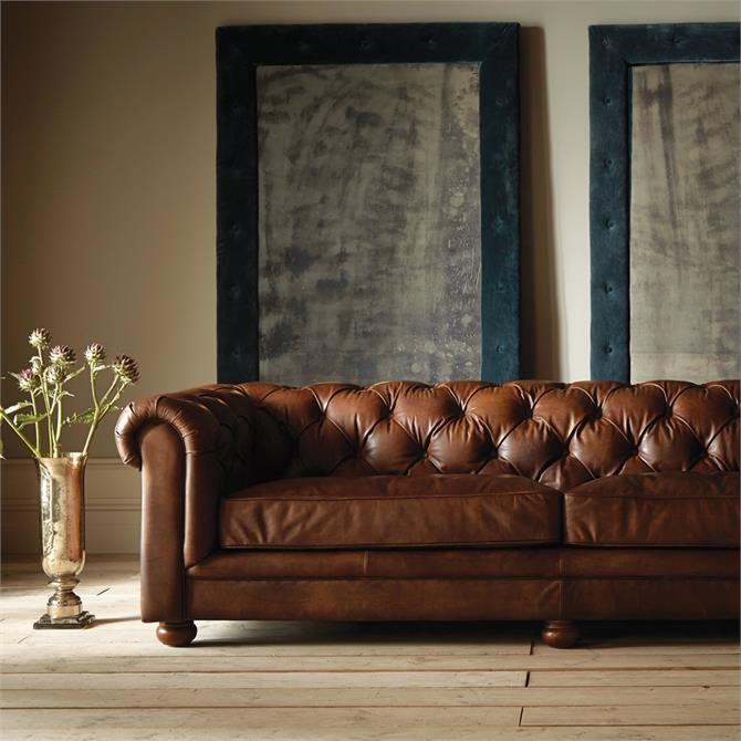 Nelson Three Seater Sofa in a Selection of Leathers