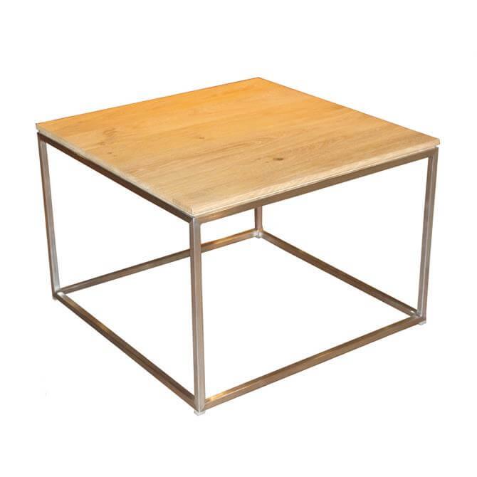 Thin Lamp Table in Oak