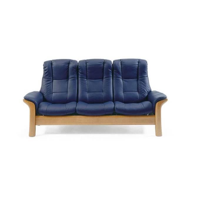 Stressless Windsor Three Seater High Back Sofa in Paloma Beige