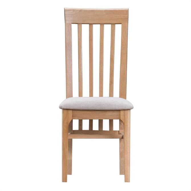 Cotman Slat Back Chair With Fabric Seat