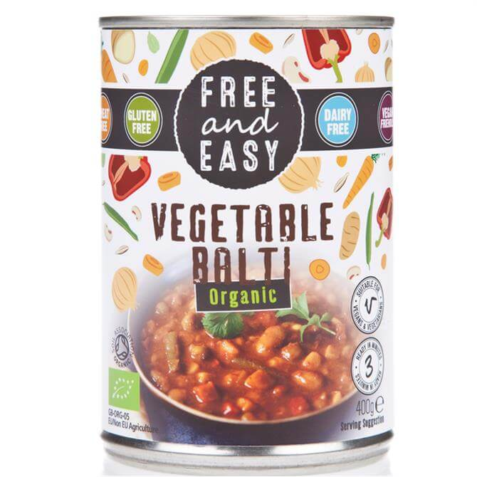 Free and Easy Organic Vegetable Balti 400g