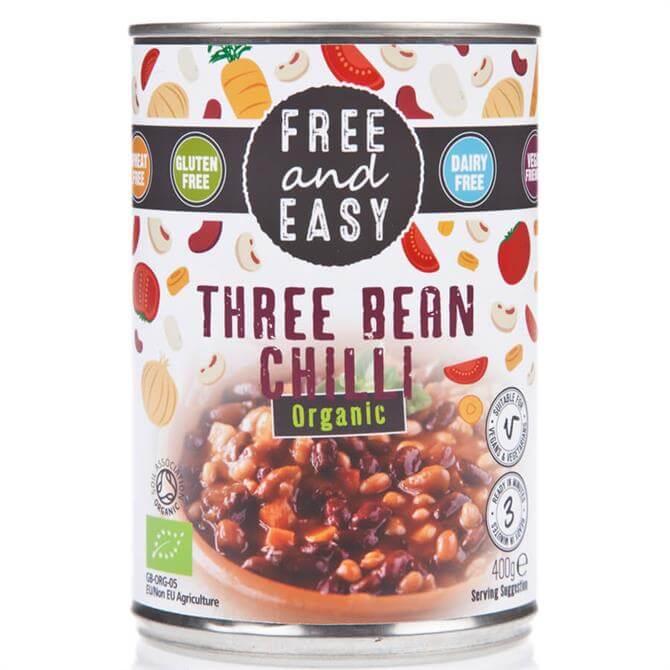 Free and Easy Organic Three Bean Chilli 400g