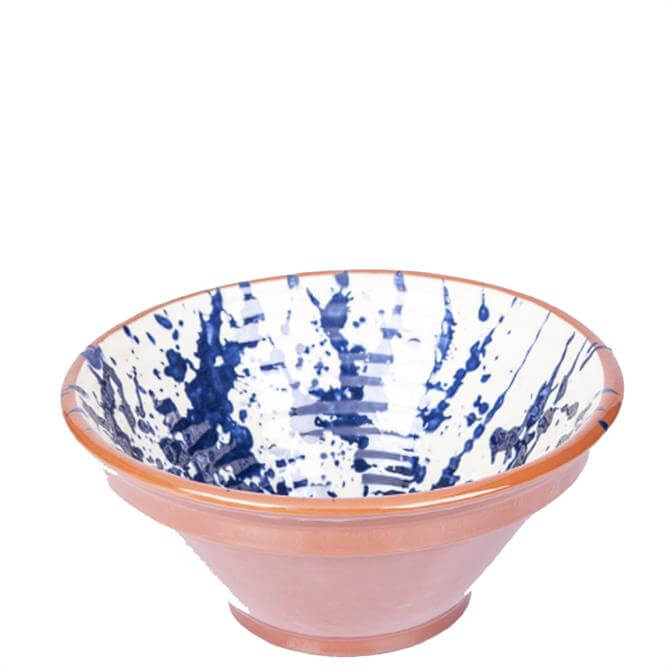 ABS Blue Splatter Ribbed Bowl 28cm