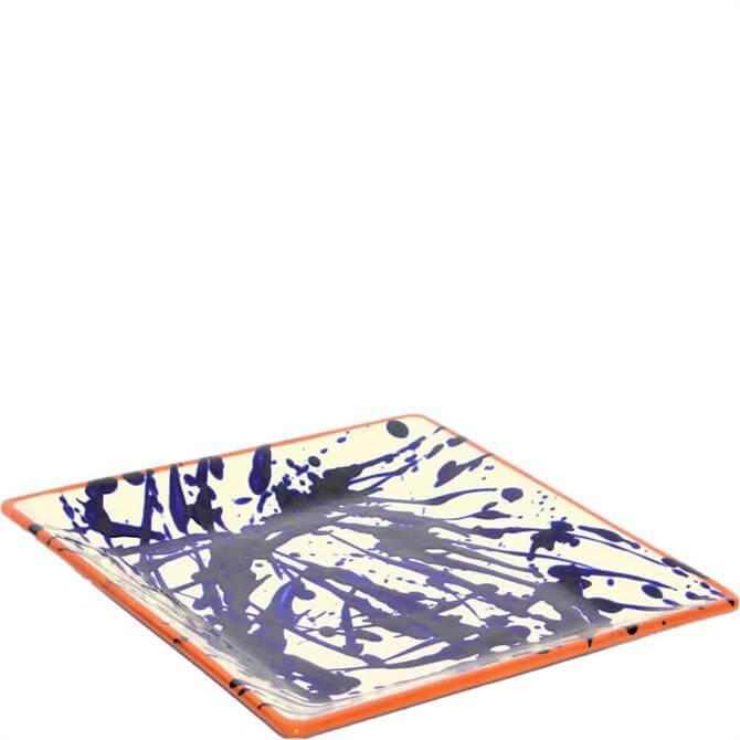 ABS Blue Splatter Square Platter