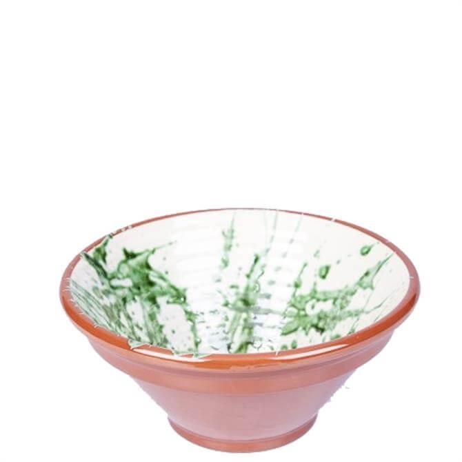 ABS Green Splatter Ribbed Bowl 28cm